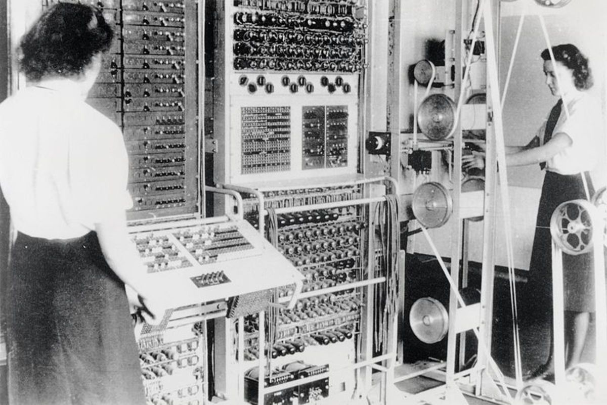 Colossus, the world's first electronic computer, started work in 1942.