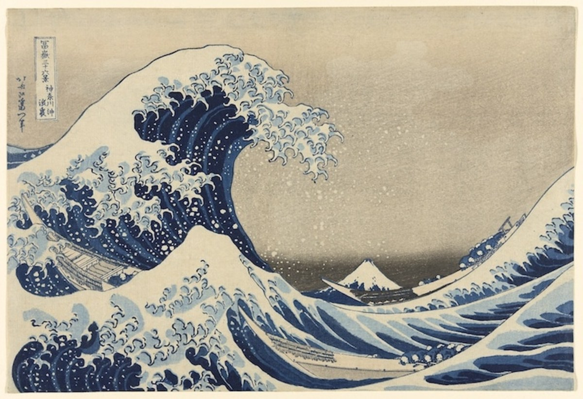 "Katsushika Hokusai, ""Under the Wave off Kanagawa"" It doesn't take a supervolcano to produce a deadly and destructive tsunami."