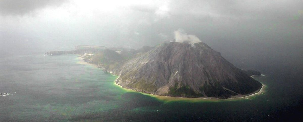 The Kikai underwater caldera is located just south of the southern tip of Japan