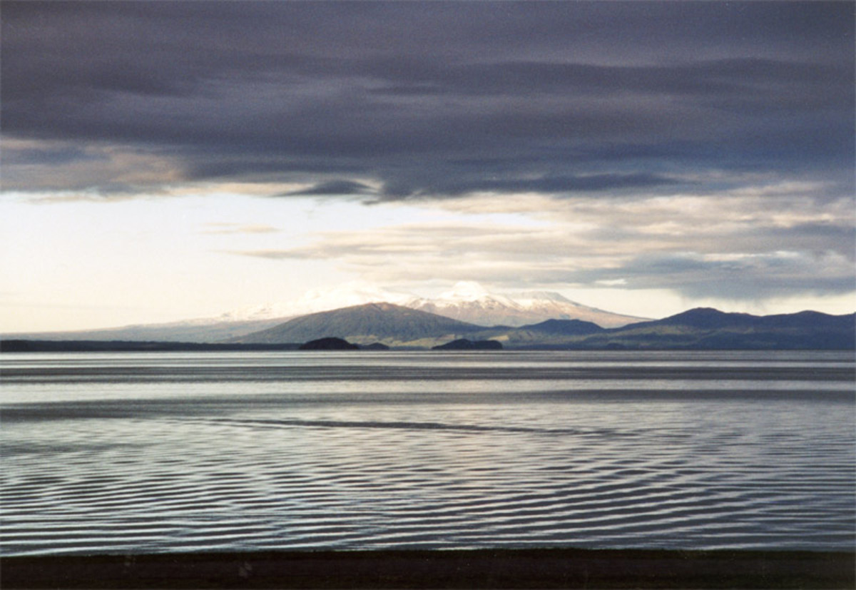 Today, Lake Taupo is a large freshwater lake.