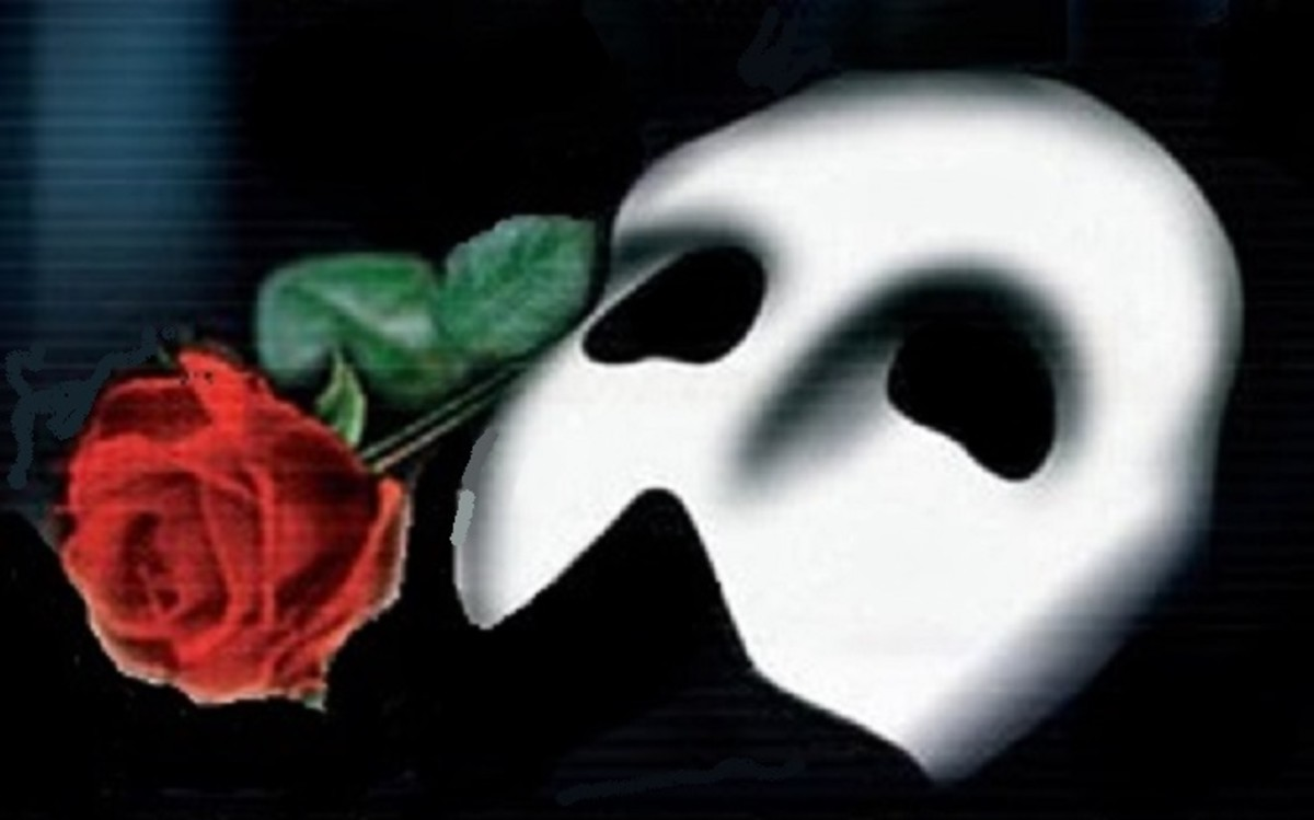 The Musical by Andrew Lloyd Webber, first performed 1986, is a favorite among Phantom fans. The white mask and rose has become the iconic symbol of the sad tale.