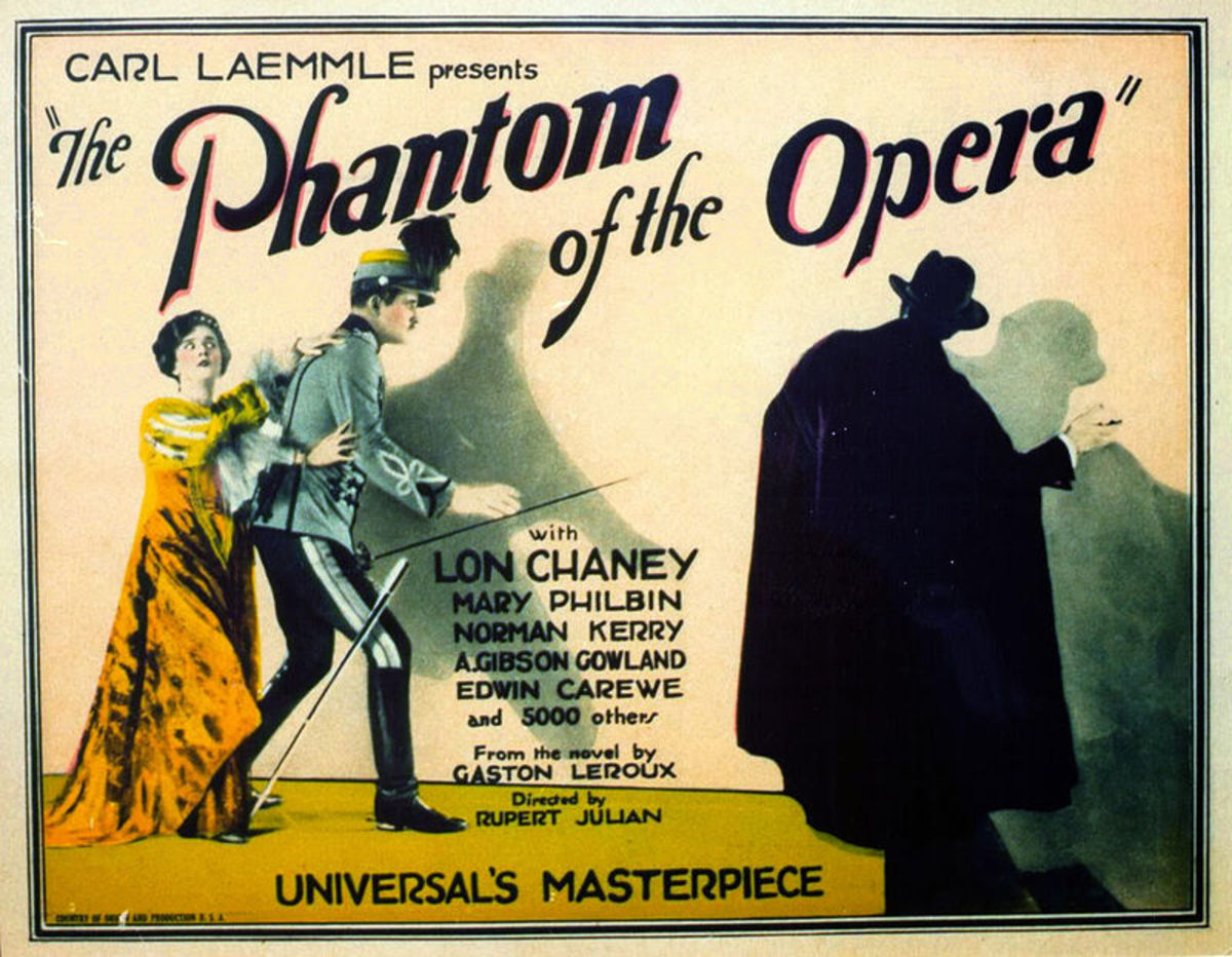 The 1925 Silent film Phantom of the Opera, starring Lon Chaney was a frightning retelling of the gothic novel. It was the first time the story was adapted to the big screen.