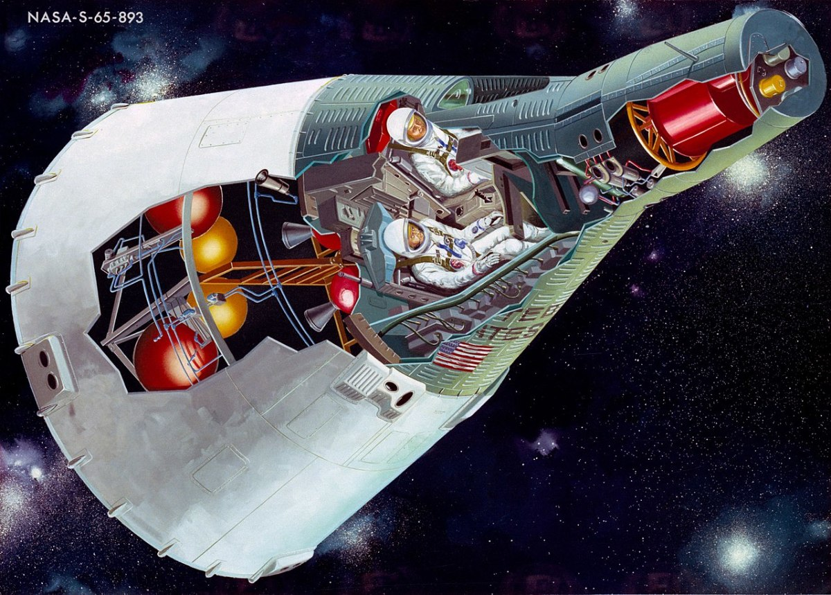 Project Gemini cut away of the space craft.
