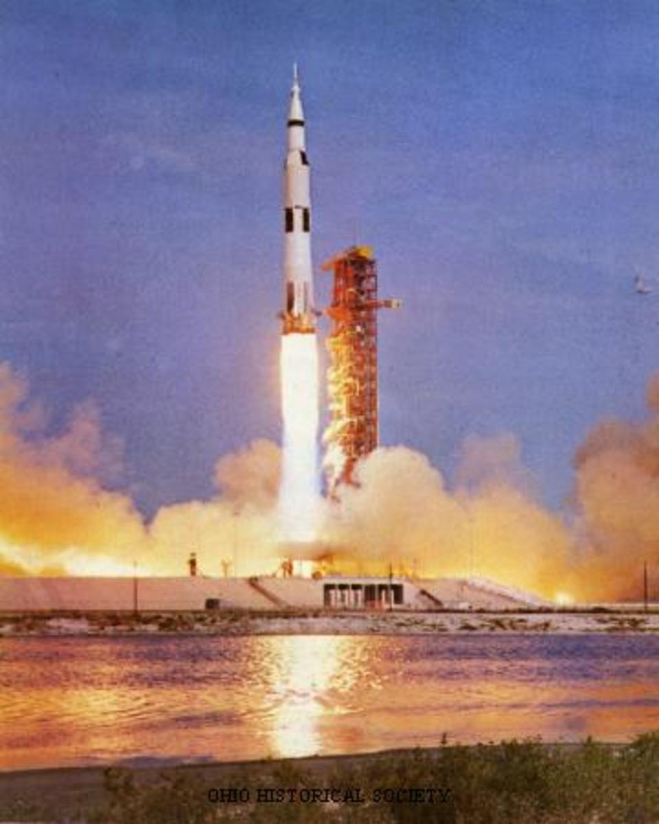 Blastoff of Apollo 11 to the moon.