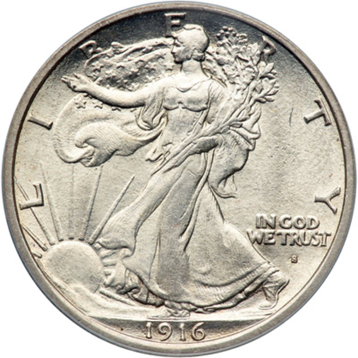 Liberty Half Dollar coin featuring Audrey Munson