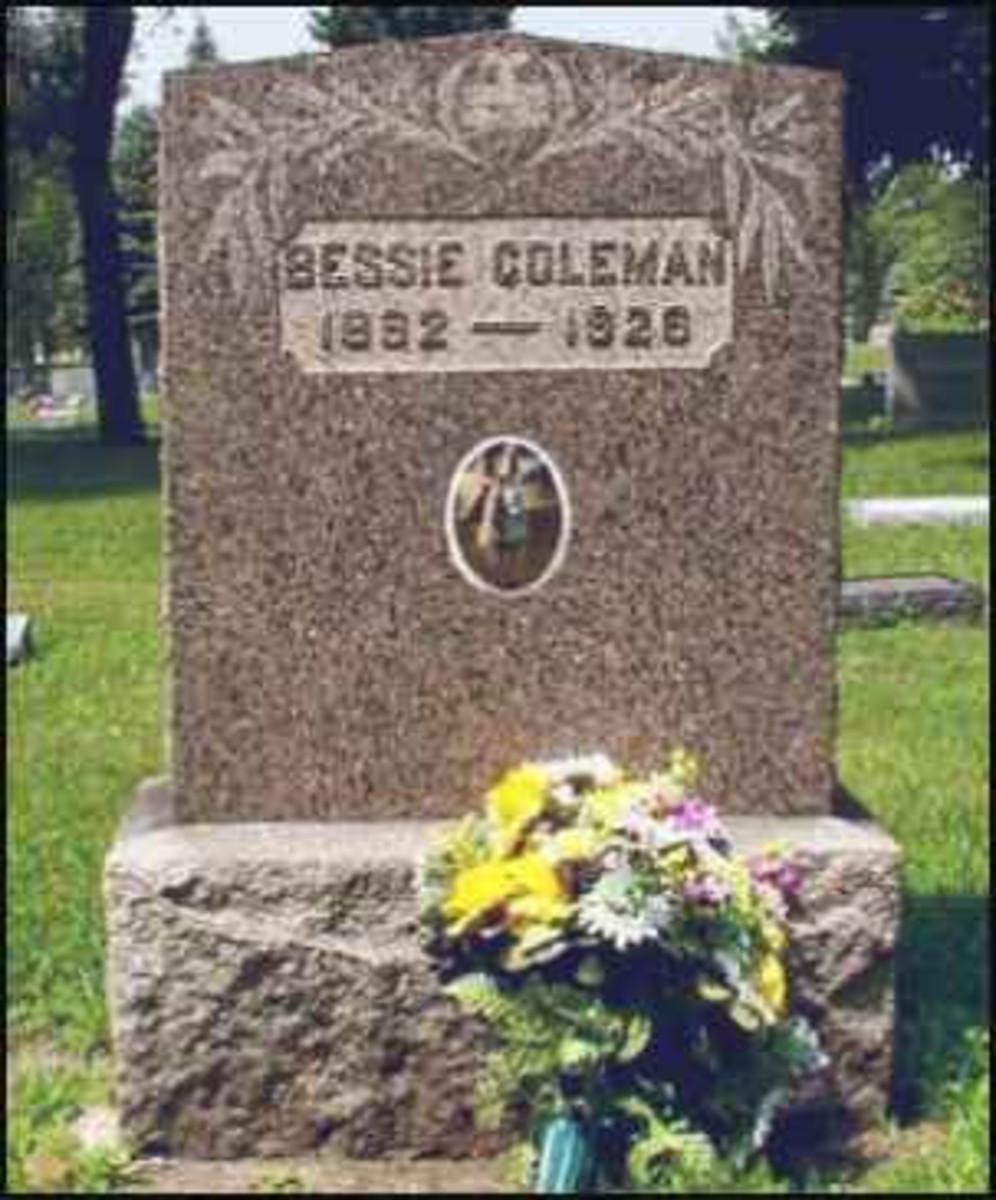 Bessie Coleman grave marker