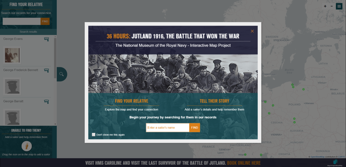 Landing page for the Jutland interactive map