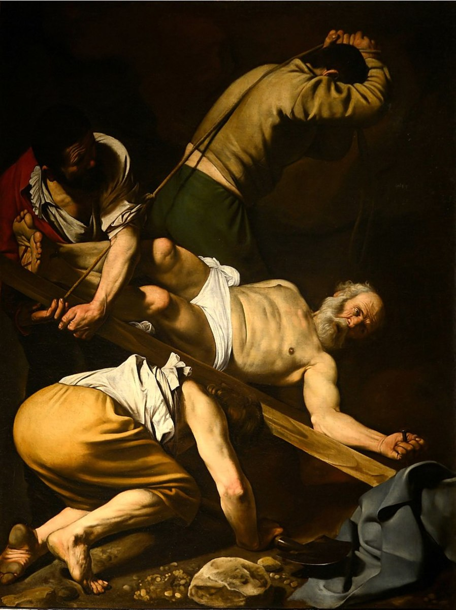 The Crucifixion of Pope Peter by Caravaggio.