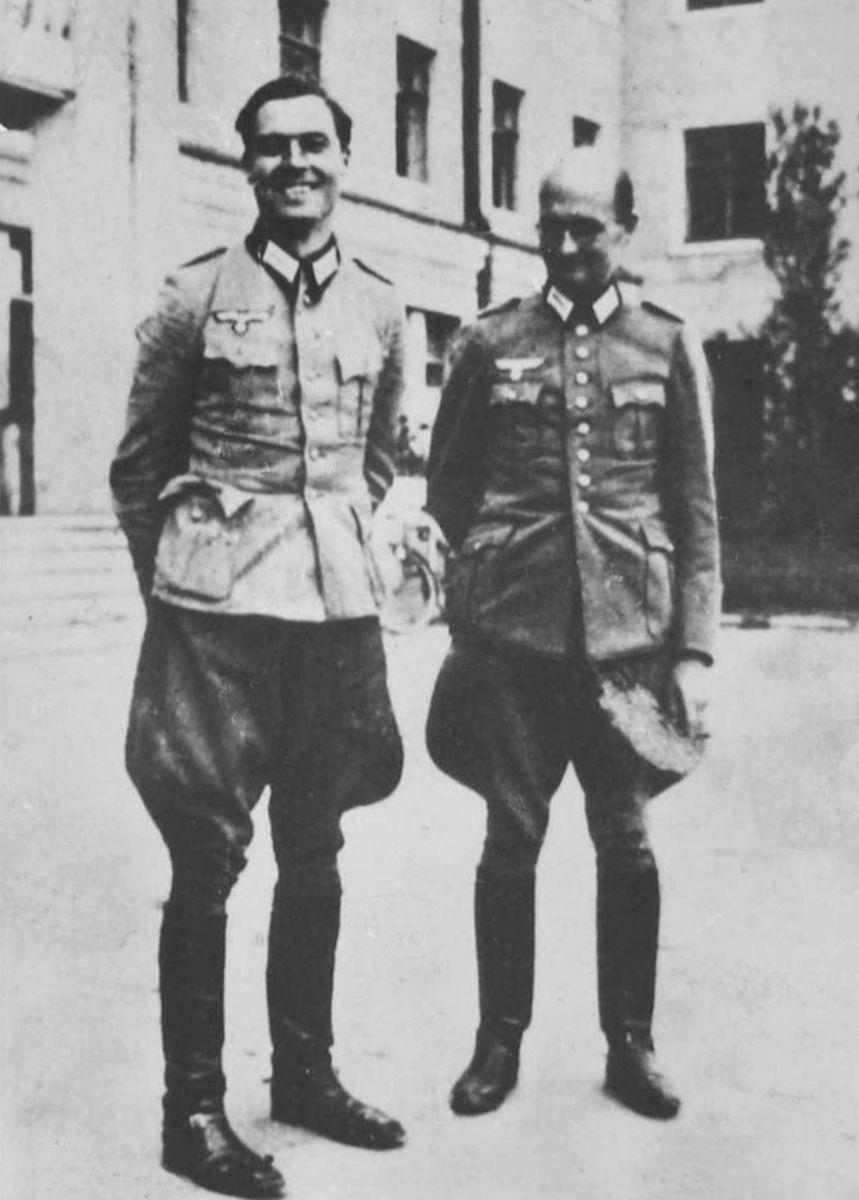 Stauffenberg with co-conspirator, Albrecht Mertz von Quirnheim.