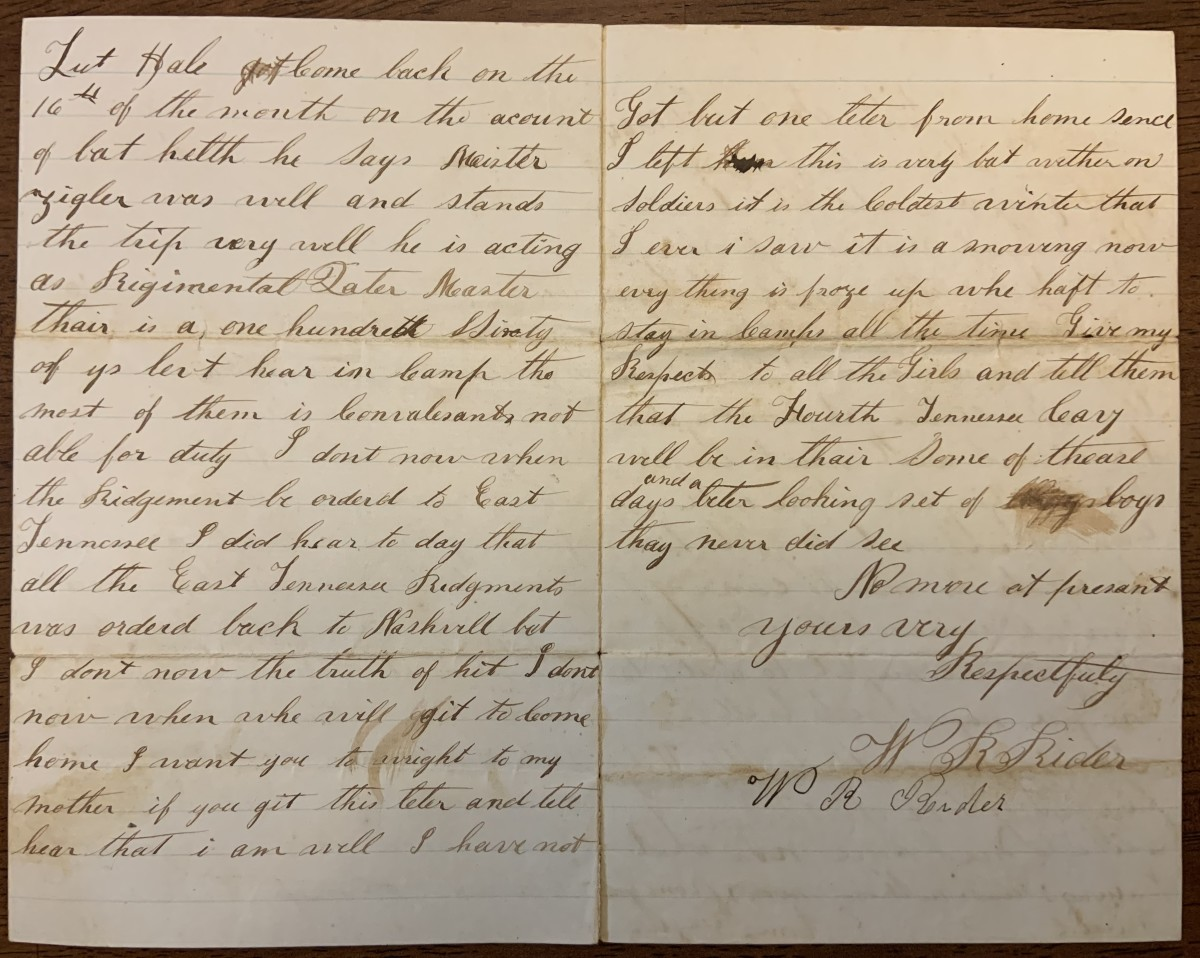Page two of letter dated January 19, 1864.