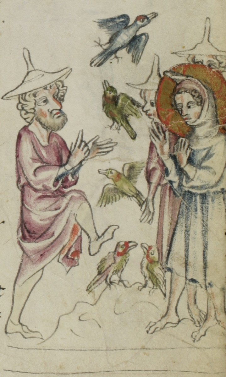 This illustration depicts one far-reaching legend from the Infancy Gospel of Thomas where Jesus causes clay (or mud) birds to come to life.