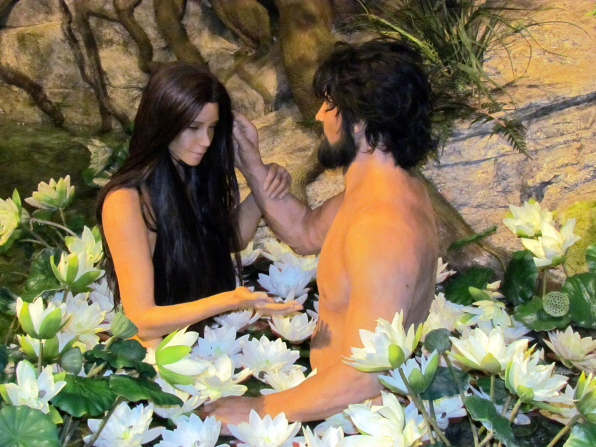 Satan tempted Adam and Eve in the garden.