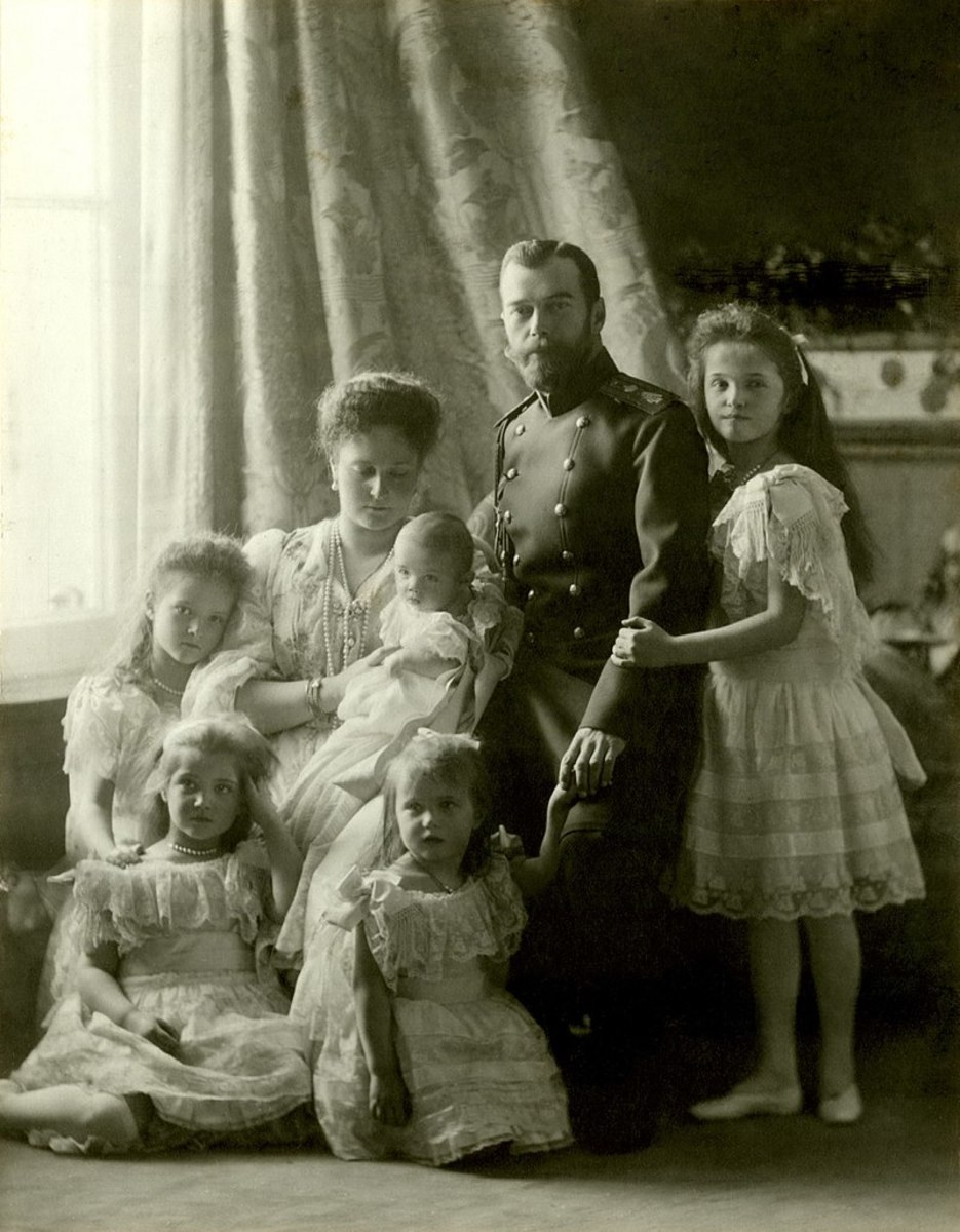 Tsar Nicholas II and his family.