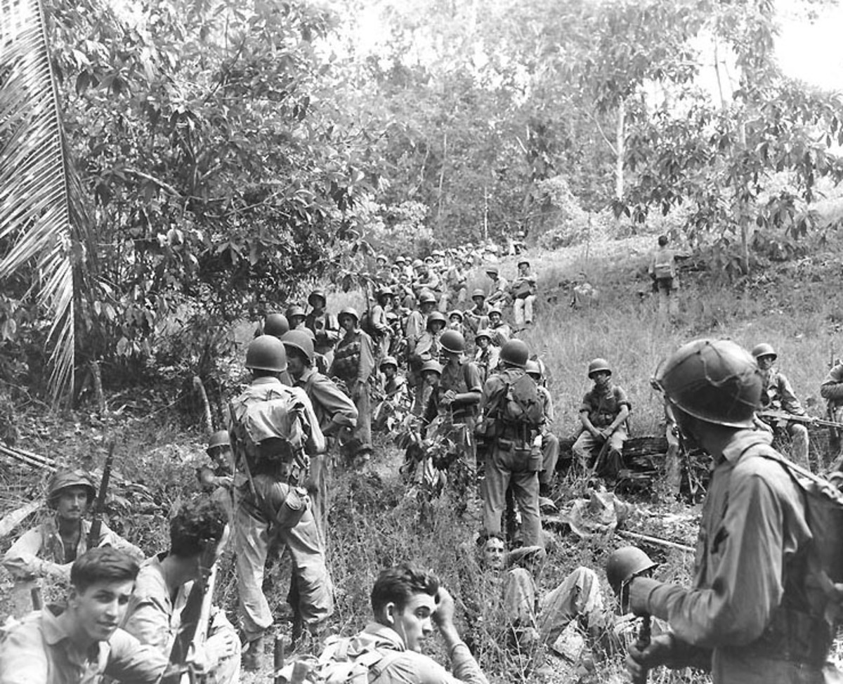 Marines at Guadalcanal.
