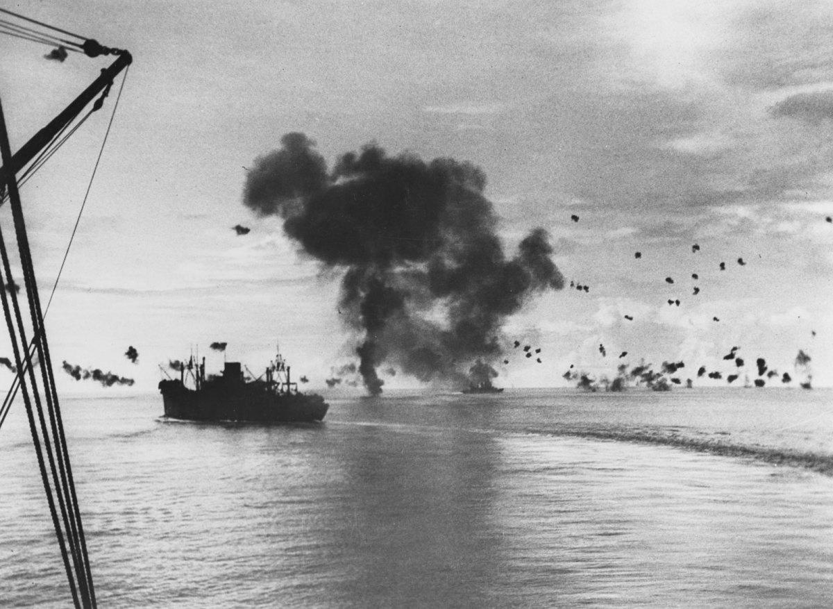 Naval battle near Guadalcanal.