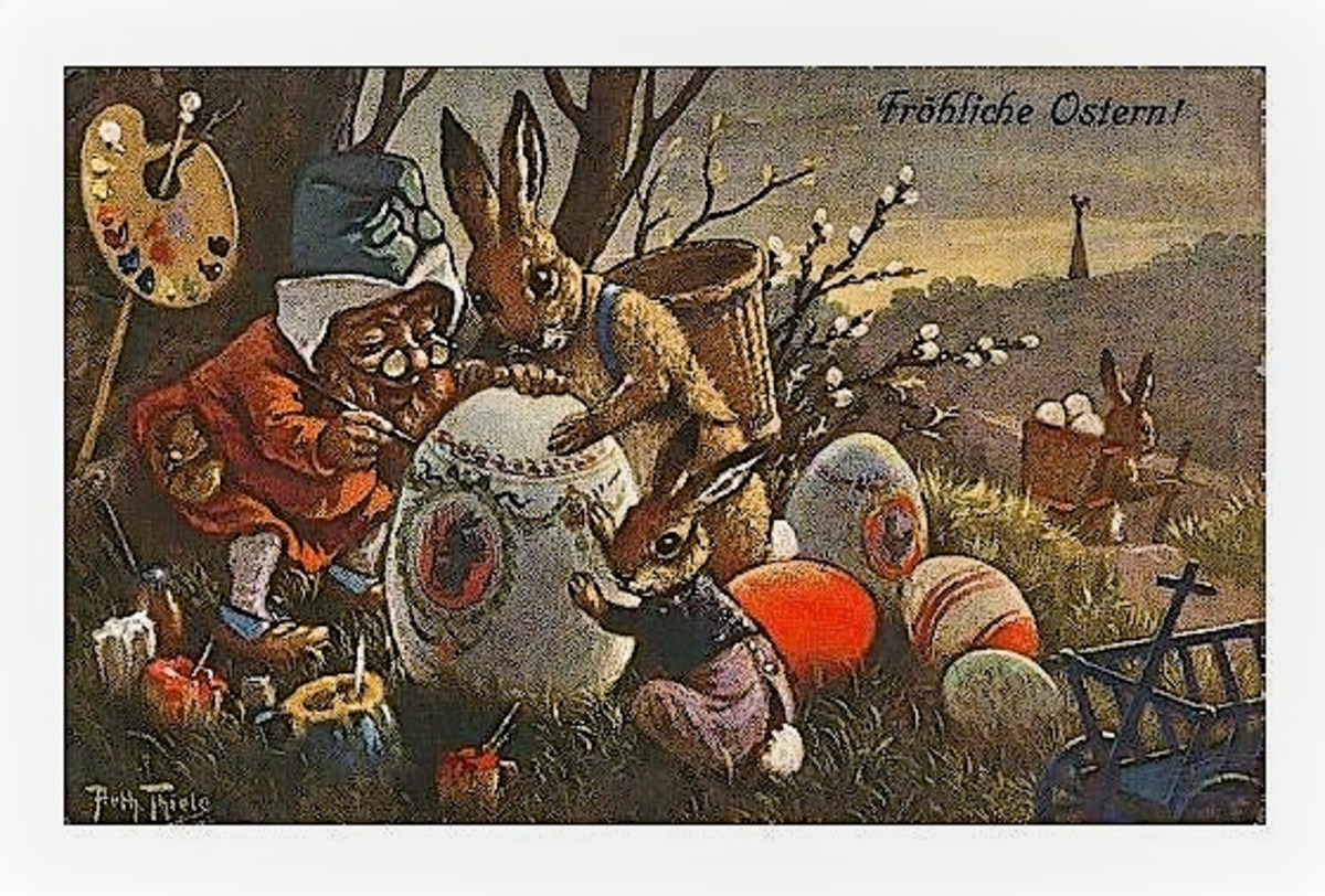 Depiction of the Easter Bunny