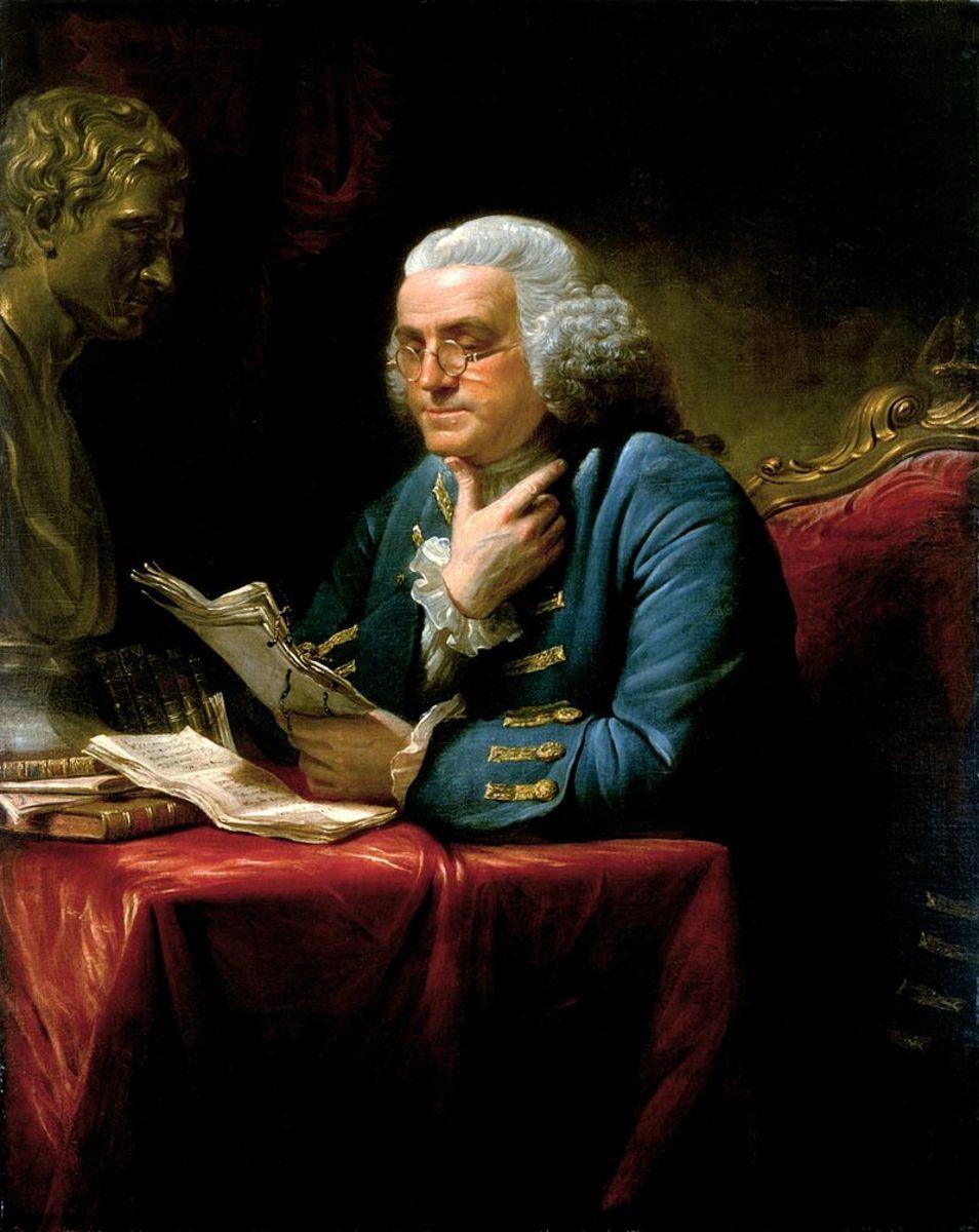 Benjamin Franklin in 1767.