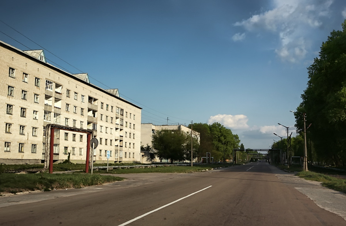 Deserted streets of Pripyat, Ukraine.