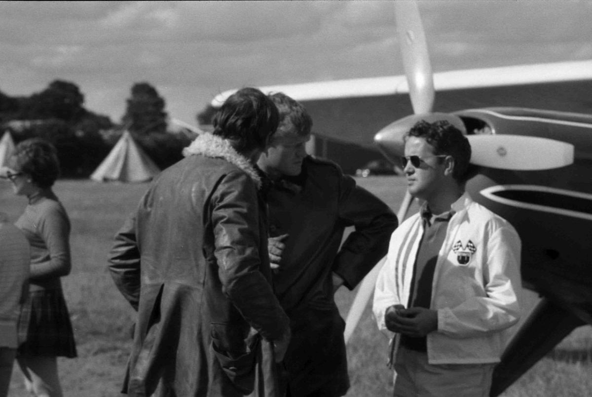 Richard Bach. Notice the aircraft in the background, as aviation and flying has long been one of Bach's personal hobbies.