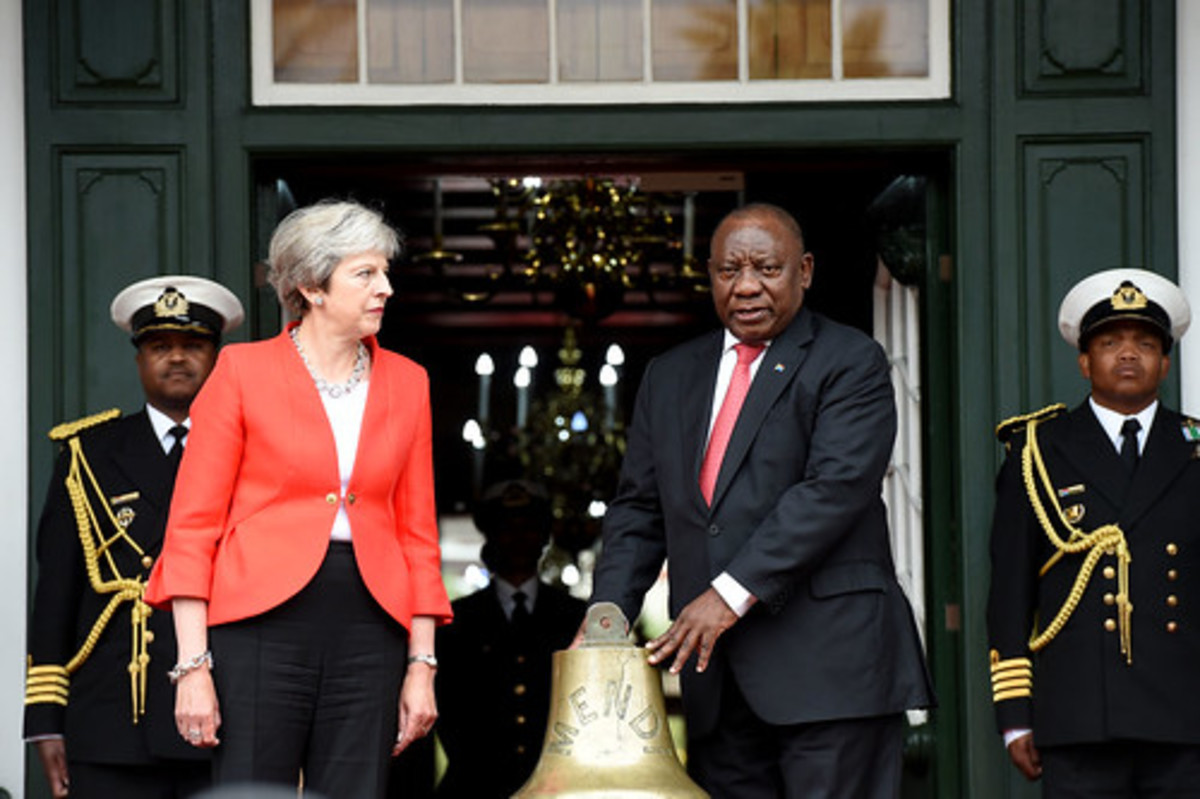 In 2018, Britain's Prime Minister Theresa May presented the salvaged ship's bell from the SS Mendi to South Africa's President Cyril Ramaphosa.