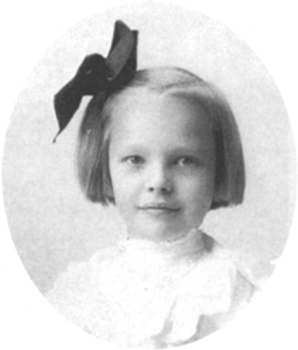 Amelia Earhart as a young girl.