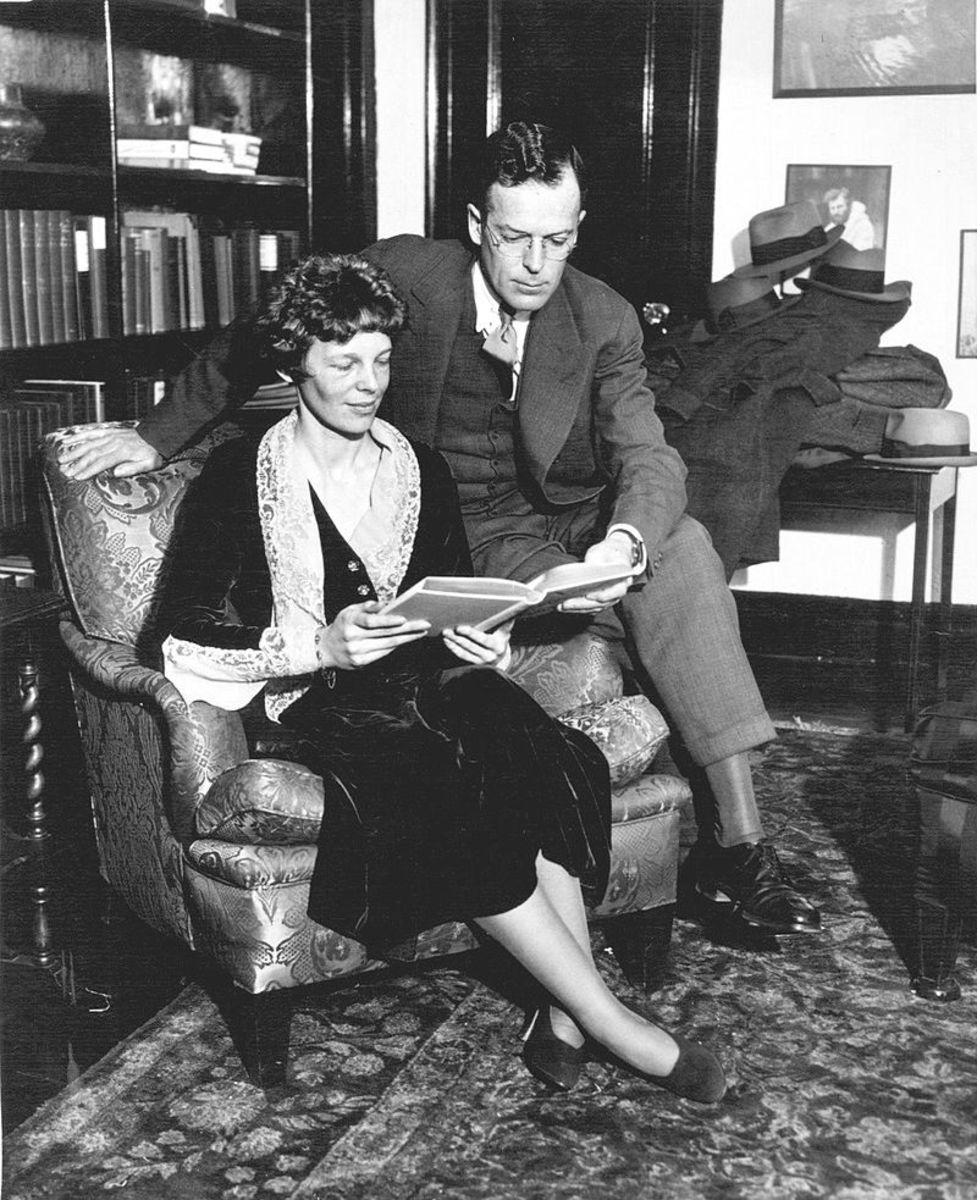 Amelia and her husband, George Putnam.