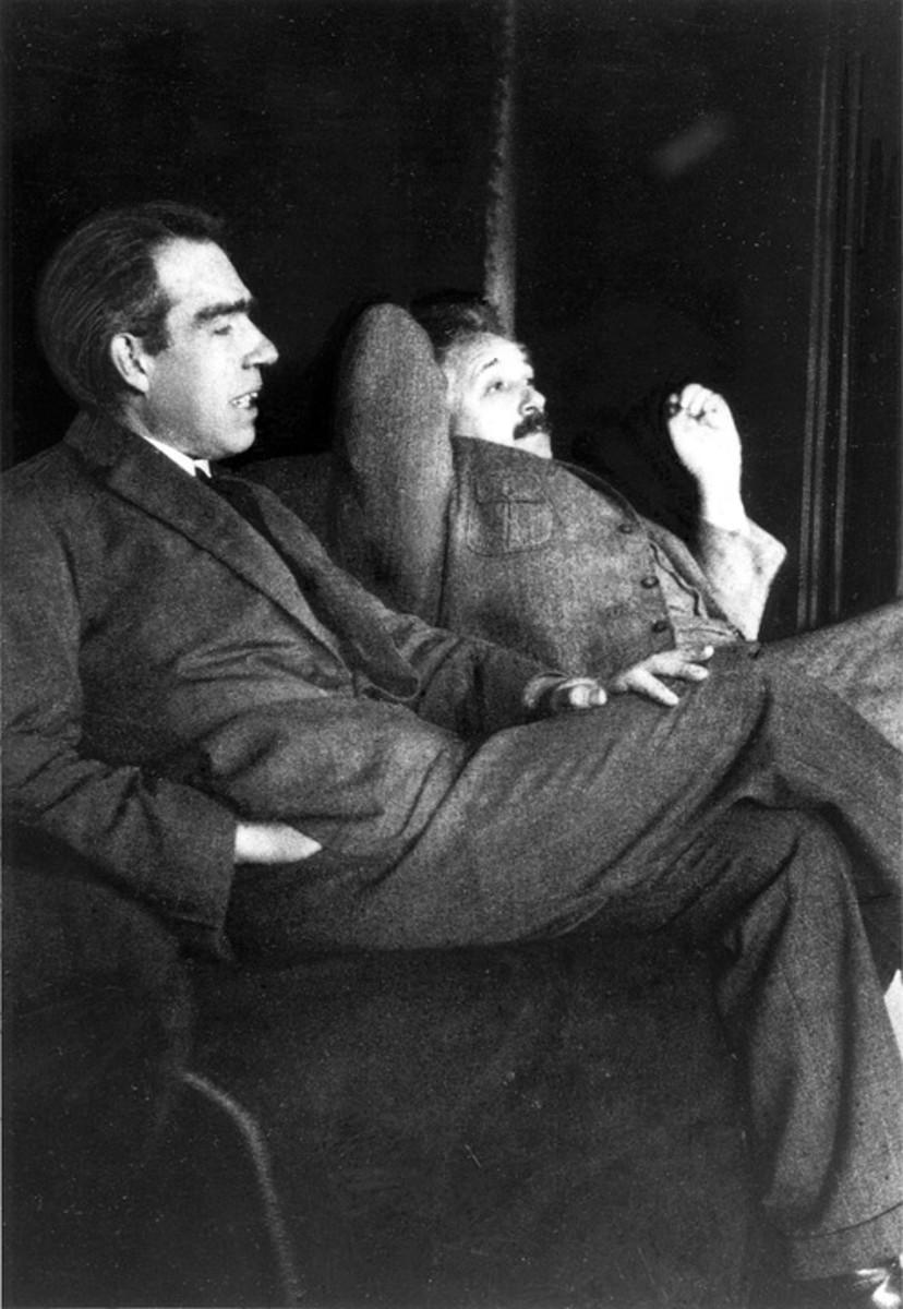 Niels Bohr (left) with his friend Albert Einstein.