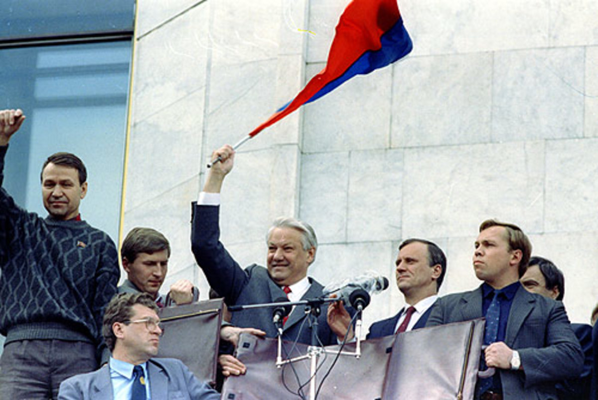 Boris Yeltsin on 22 August 1991.