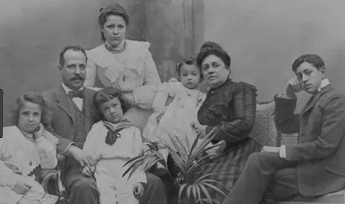 The Battló family.  In the far left is Josep Battló, who committed Gaudi to redesign the home in 1904.