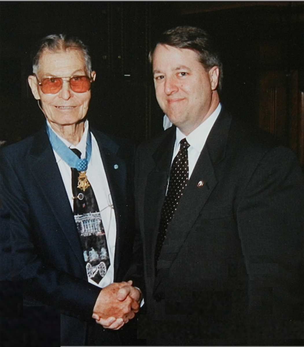 Desmond Doss in later life.
