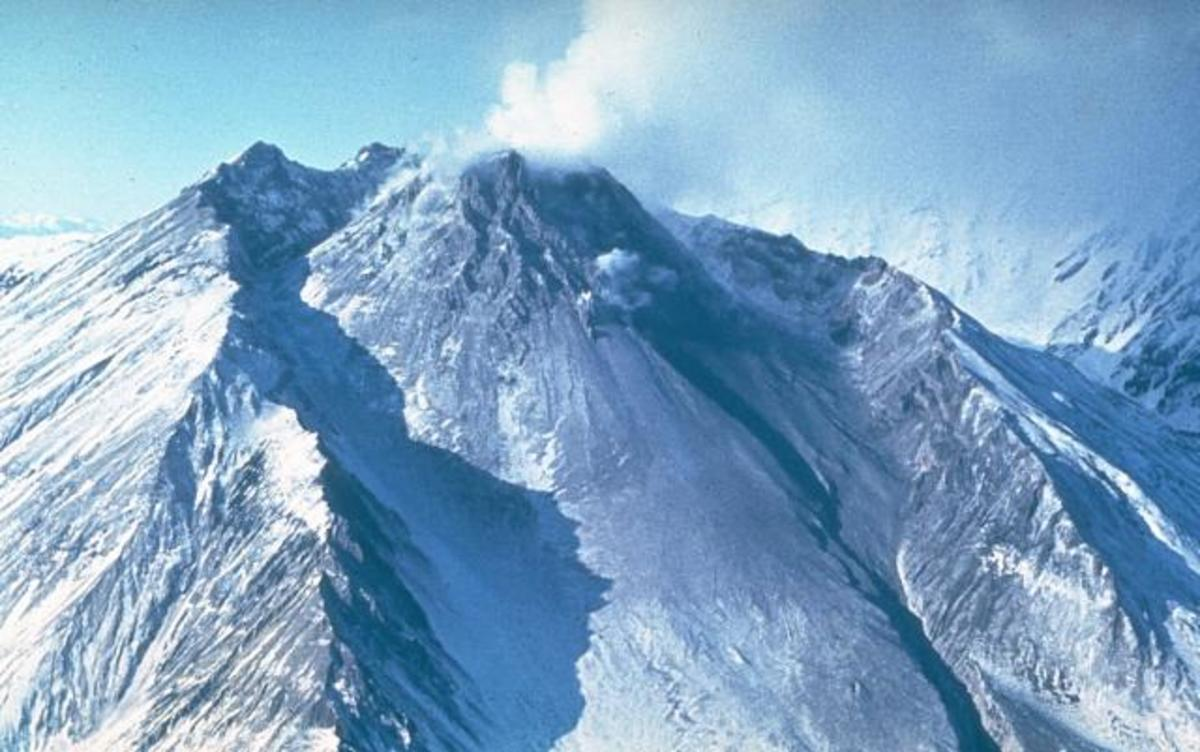 The Bezymianny volcano erupted in 1956 after a long period of dormancy.