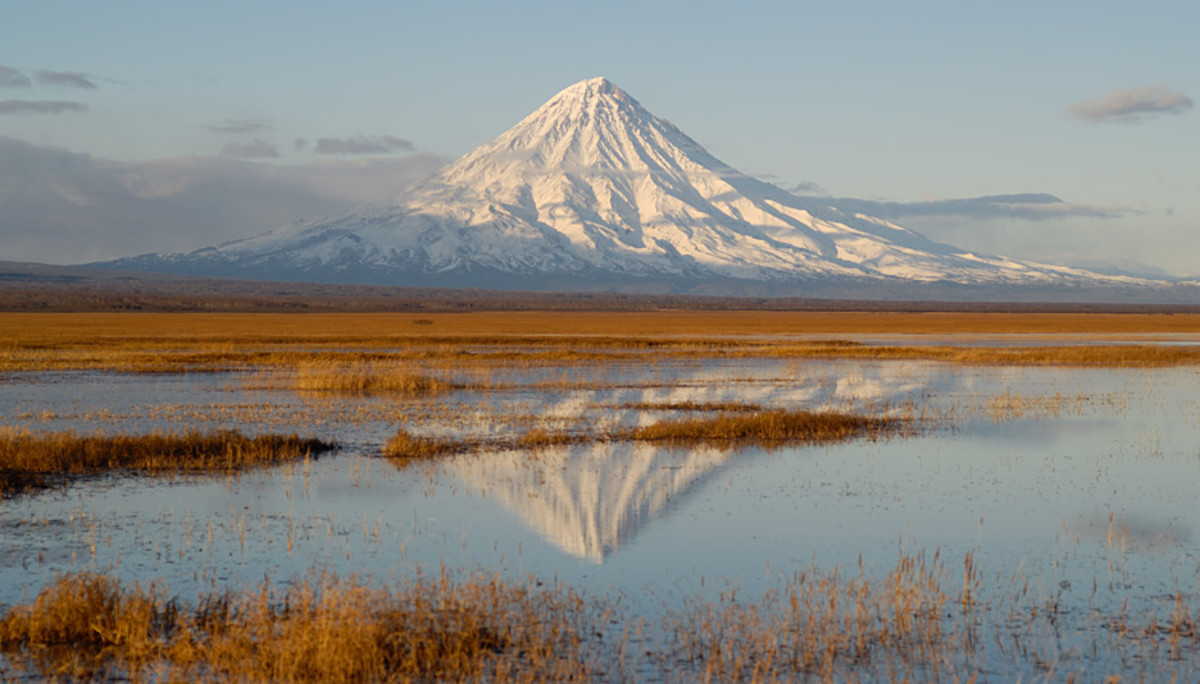 Because of its primal beauty, the Kronotsky Volcano in Eastern Russia is a recognized UNESCO World Heritage Site