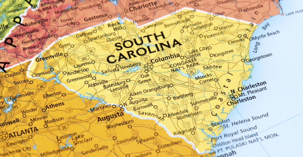 My home state of South Carolina.