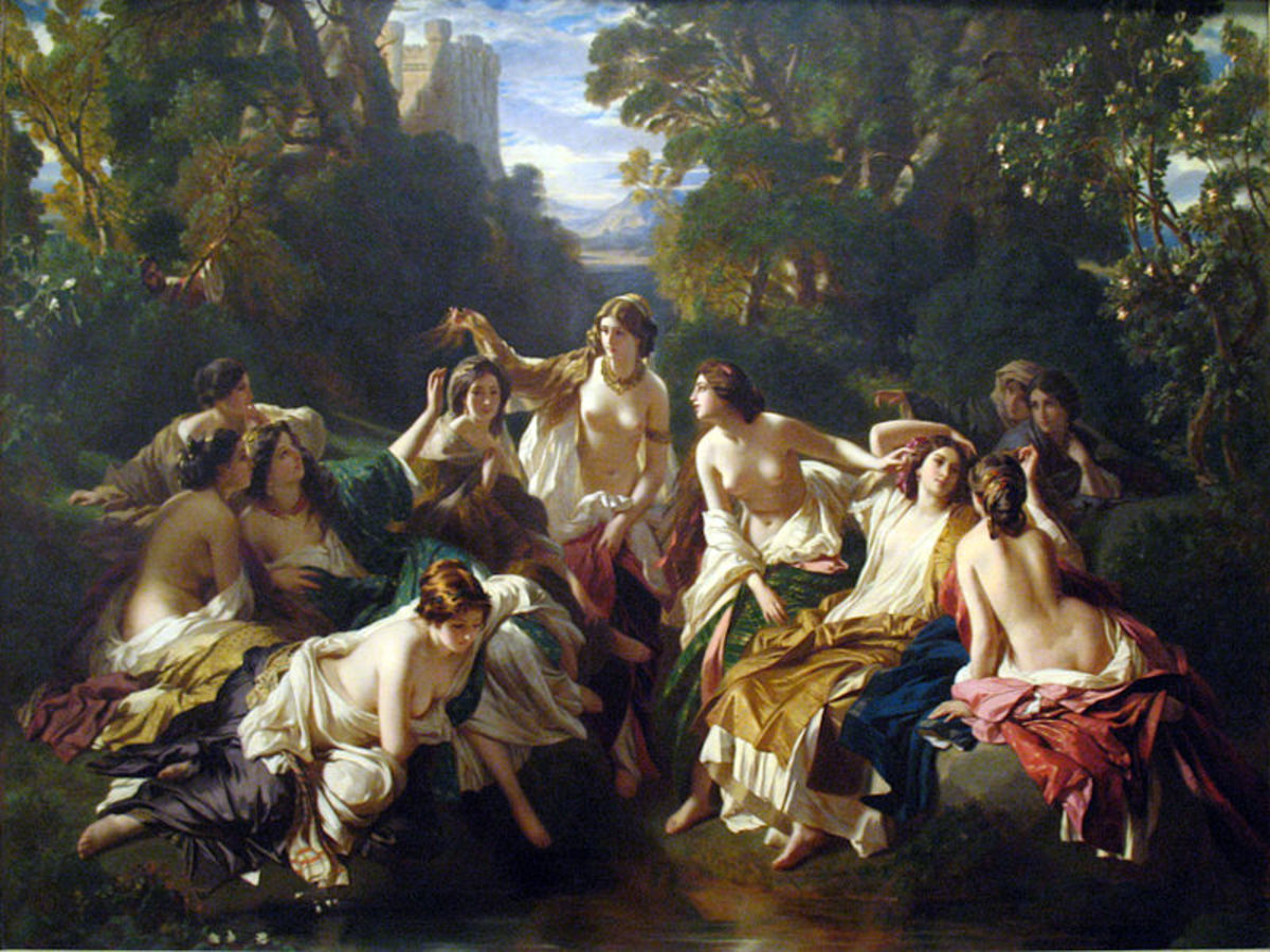 The royal couple exchanged gifts of erotic paintings such as Florinda, by Franz Xaver Winterhalter that Victoria gave to Albert.
