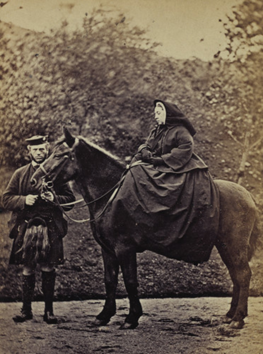Victoria with John Brown.