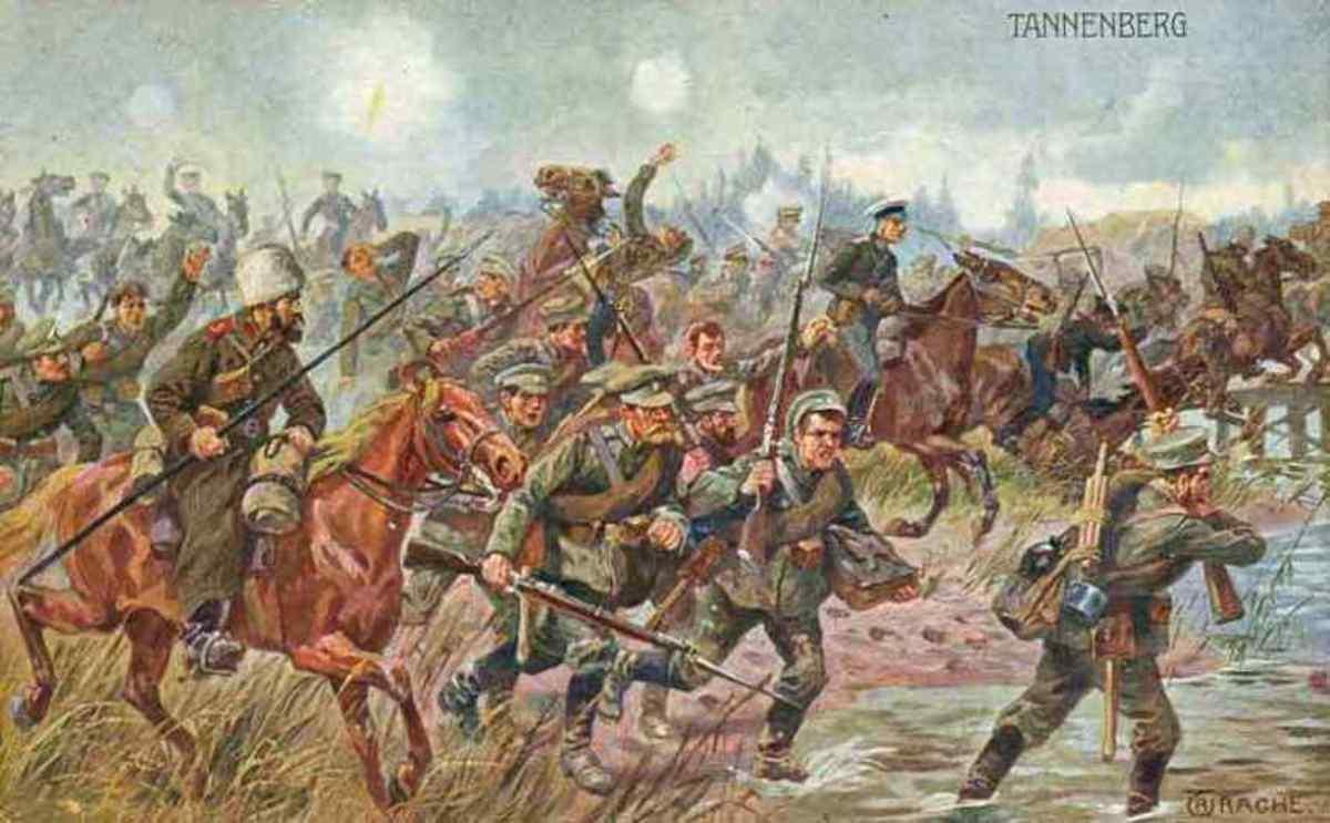 Battle of Tannenberg in August 1914