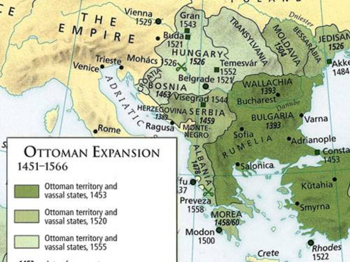 Ottoman Empire Expansion 15th & 16th Centuries