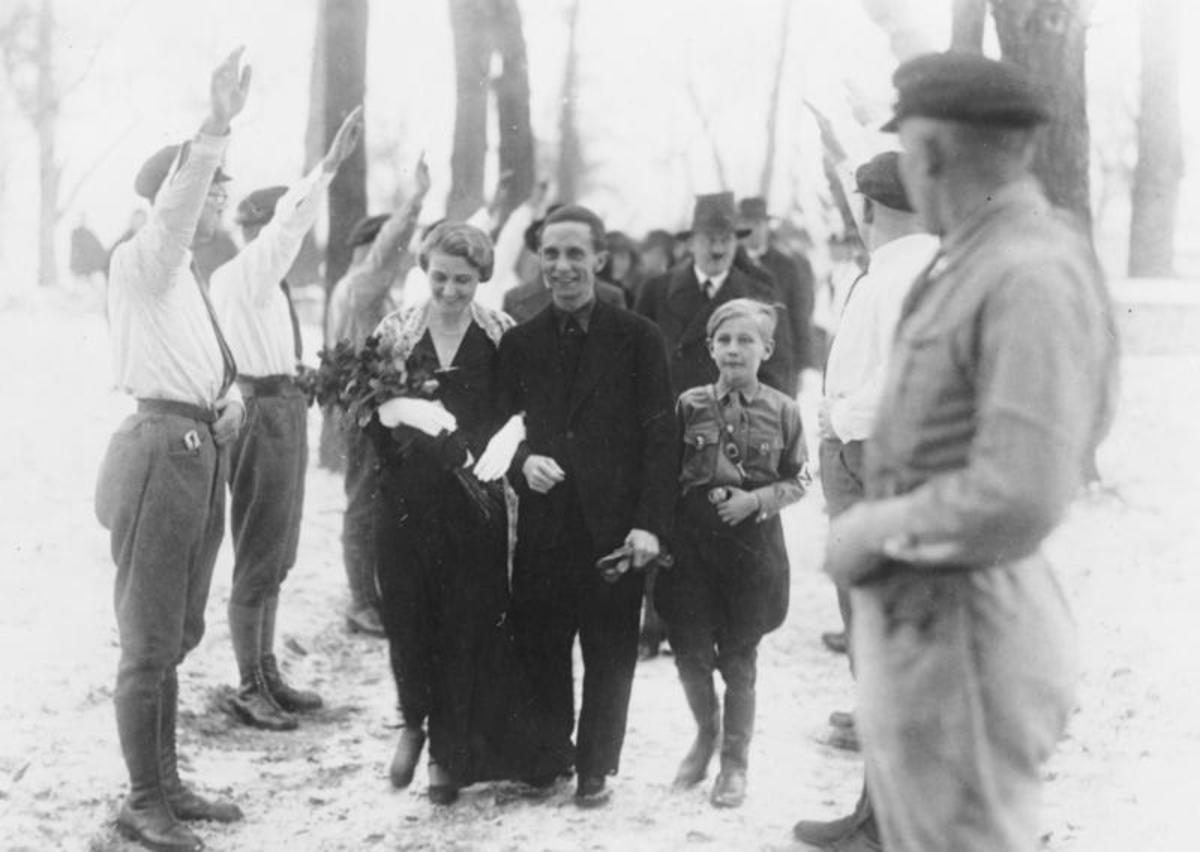 Wedding in black - with Hitler as best man