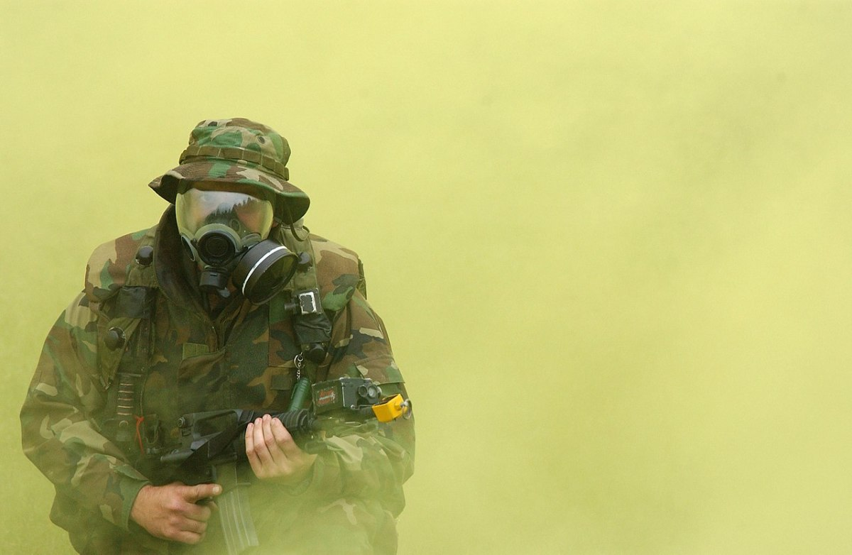 Current gas mask device used by the United States military (pictured above).