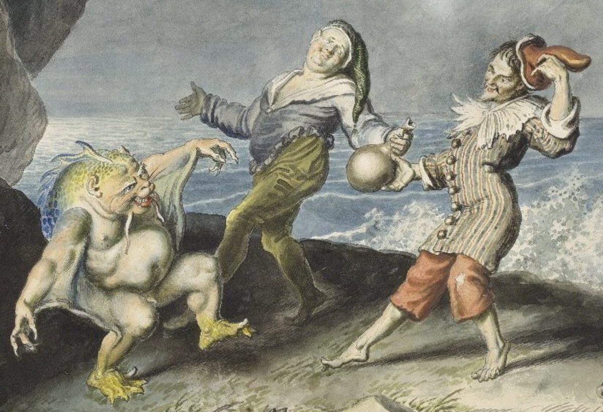 Traditional Stage Representation prefers to show Caliban as a deformed creature, associating physical deformity with mental savagery: An Unforgivable Notion
