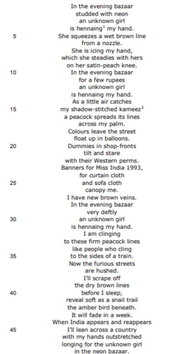 analysis-of-poem-unknown-girl-by-moniza-alvi