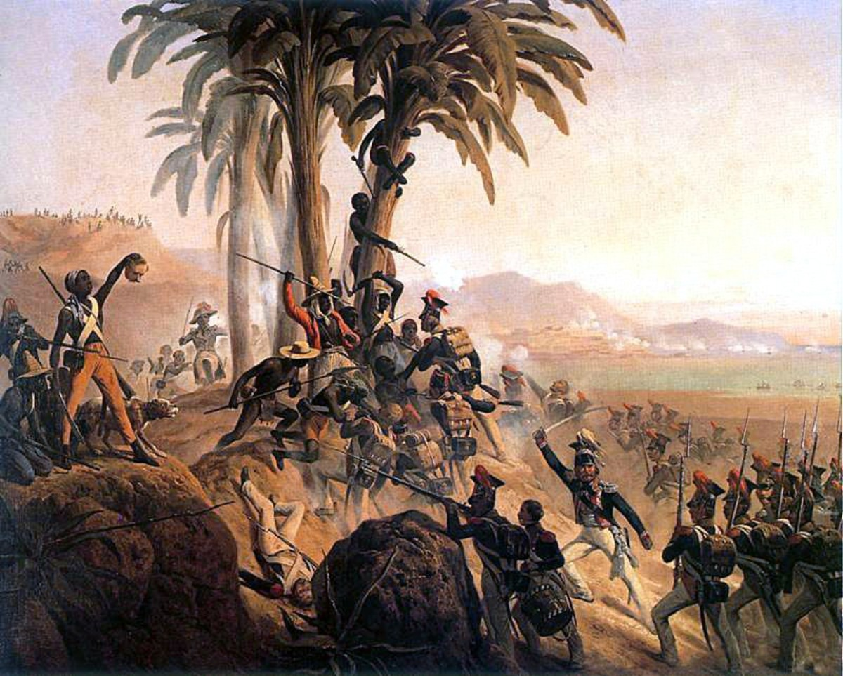 Depiction of a battle in the Haitian Revolution.