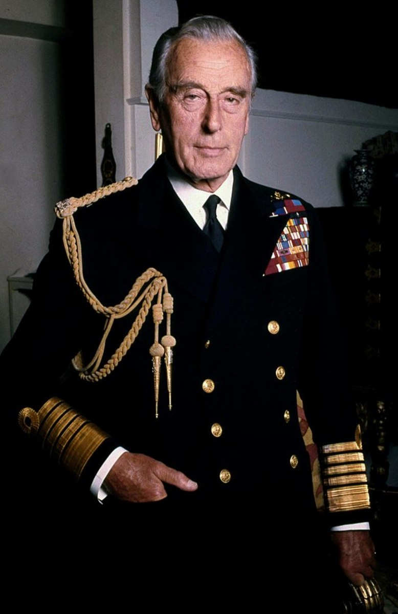 Admiral Lord Mountbatten.