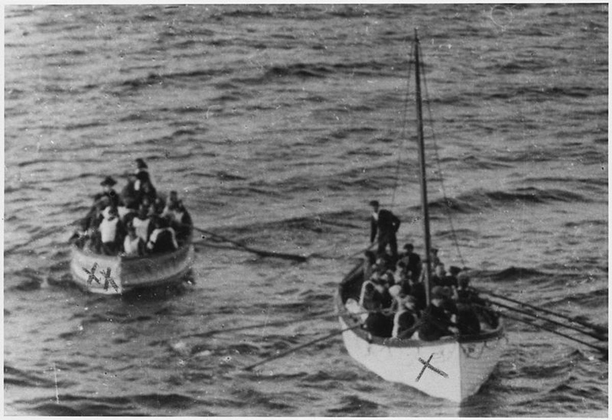 Titanic survivors are rescued.
