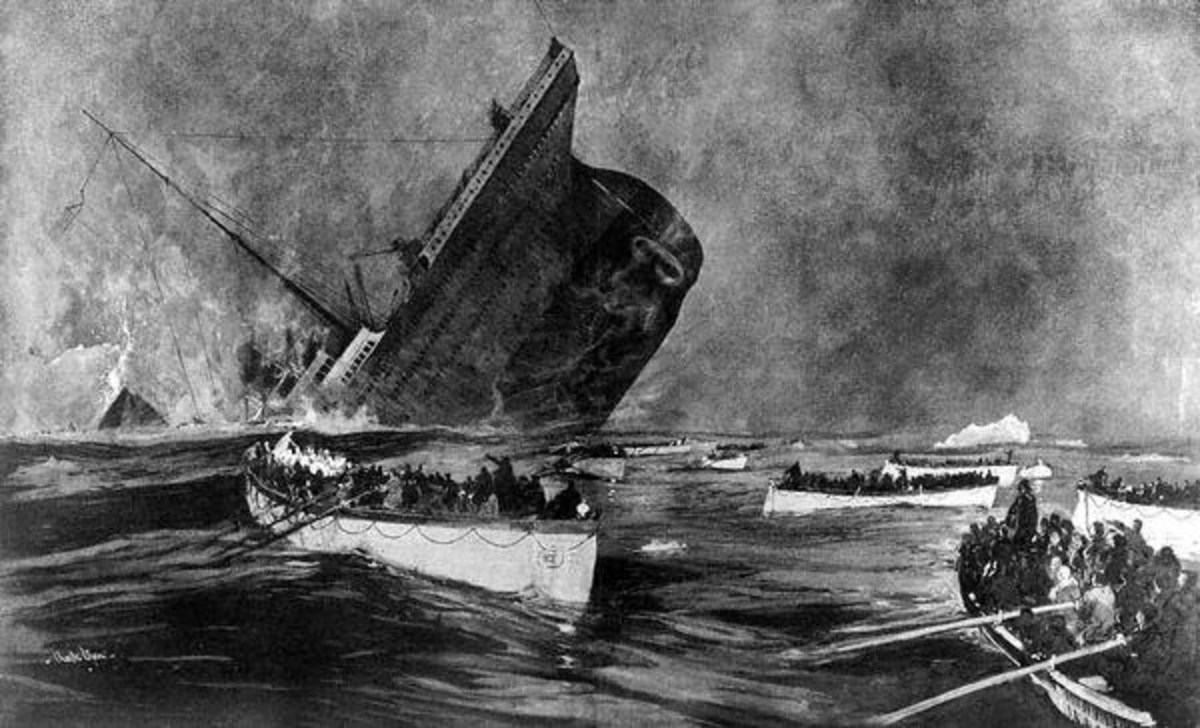 As the ship went down, Joughin was standing at the highest point of the stern.