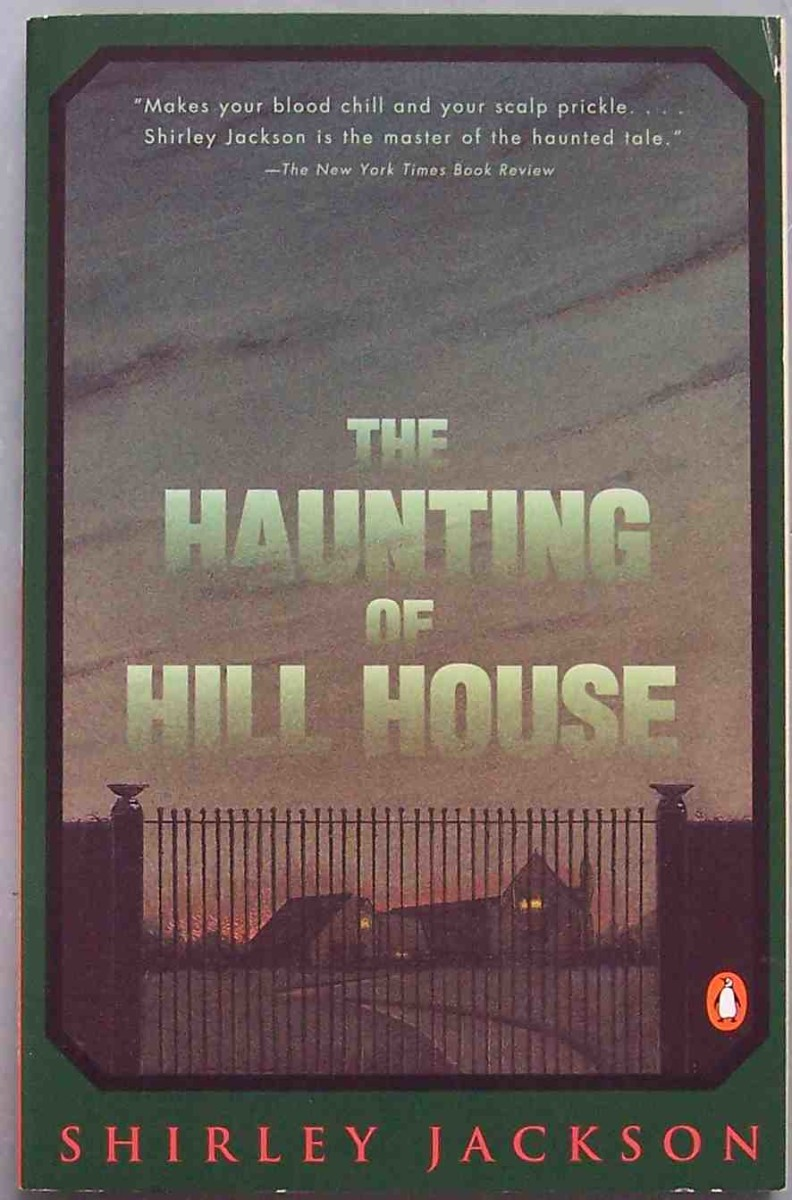 """Penguin cover of Shirley Jackson's """"The Haunting of Hill House."""" Photo by  Drümmkopf."""