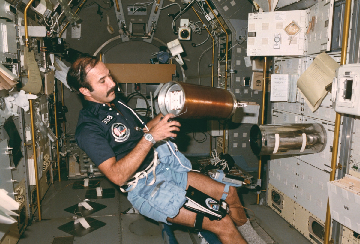 First Dutchman in space, Wubbo Ockels, in Spacelab