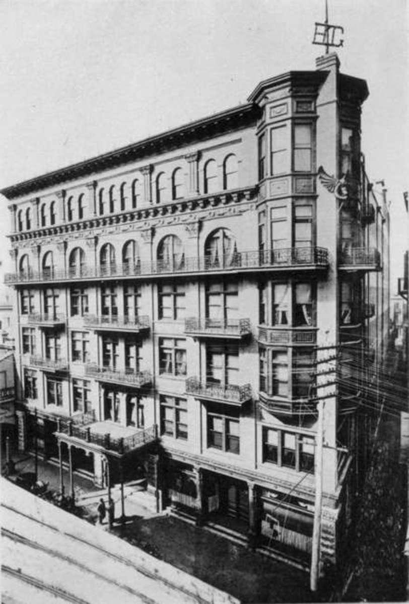 The original hotel building.