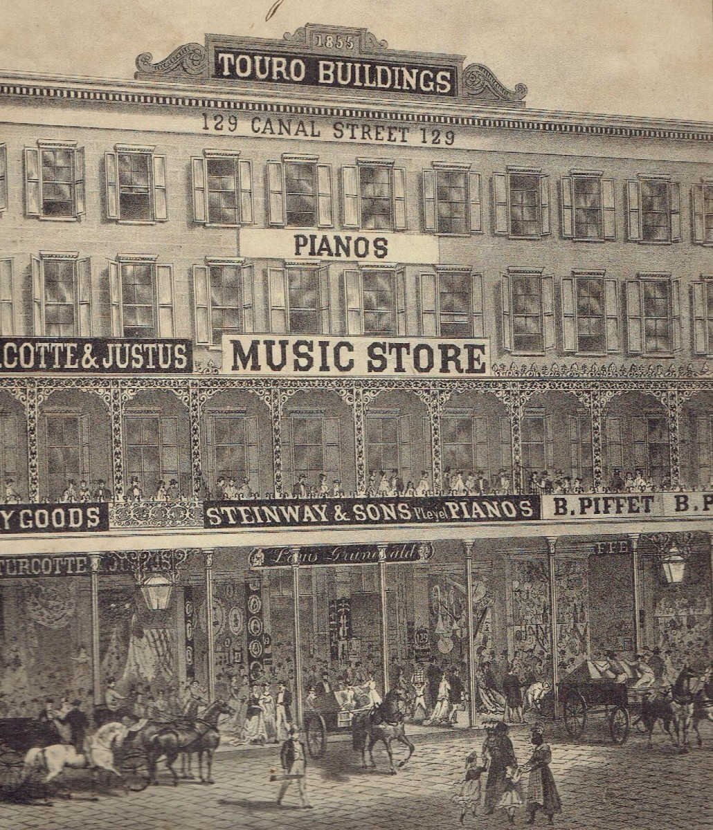 Louis Grunewald's music store on Canal Street.