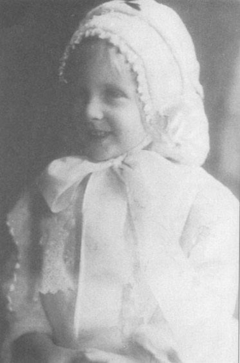 Three year old Betty Munn who, along with her father John Shannon Munn, perished on the Florizel.